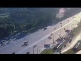 ДТП между BMW и Kia в Москве на Кутузовском сегодня утром.