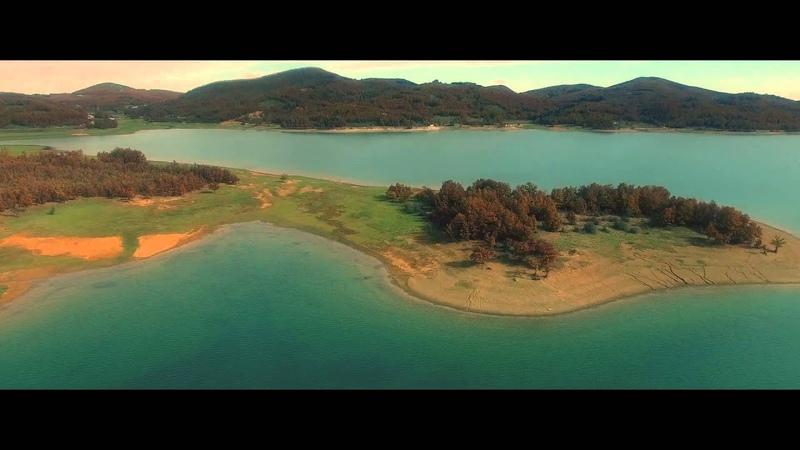 Greece limni plastira - Lake Plastira drone /aerial view /aerial footage Λίμνη Πλαστήρα | drone