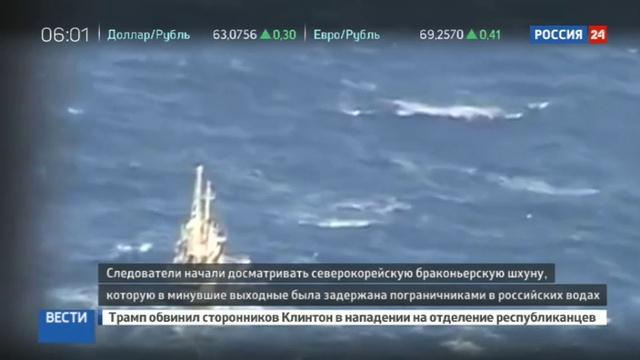 Новости на Россия 24 • Взята с боем: браконьерскую шхуну из КНДР отбуксировали в Находку