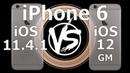 Speed Test : iPhone 6 - iOS 12 vs iOS 11.4.1 (Build 16A366)