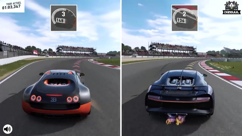 [DIZEUUL] Bugatti CHIRON vs VEYRON | Forza Motorsport 7