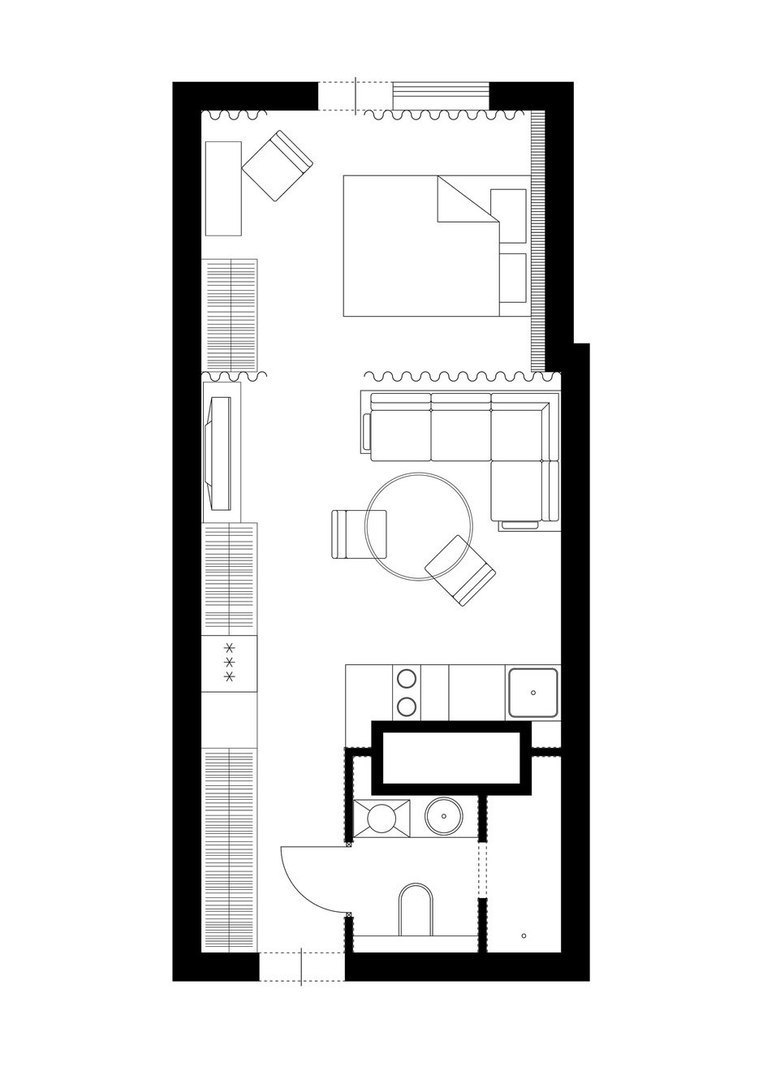 Квартира-студия 33 кв.