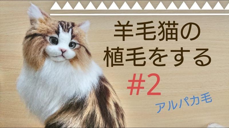 羊毛フェルト 猫を植毛する 2 クラシックタビー Classic Tabby How To Make Needlefelting Cat Doll