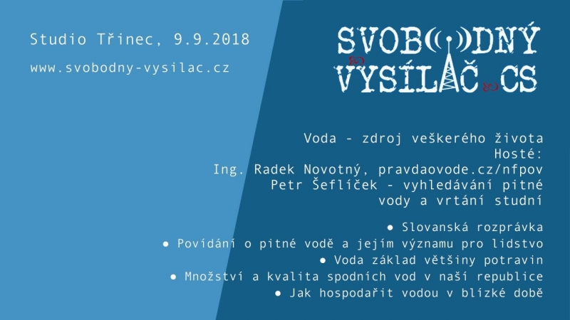 SVCS 2018-09-09 Studio Třinec Voda - zdroj veškerého života