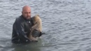 Officer Chops Through Ice to Save Puppy on Frozen Lake