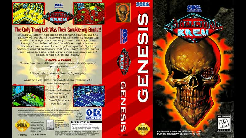 [SEGA Genesis Music] Skeleton Krew - Full Original Soundtrack OST