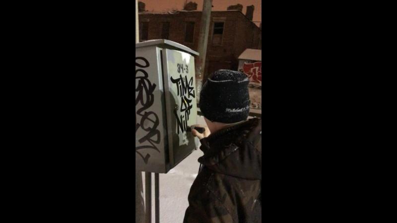 Timeofnight tagging by Tesla @ Saint-Petersburg