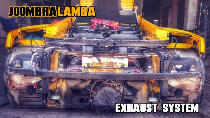 Welding exhaust Lamborghini GALLARDO (pt.1 Fit the JOOMBRA mufflers)