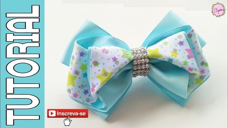 Laço Fanny Fita N9 🎀 Ribbon Bow Tutorial 🎀 DIY by Elysia Handmade