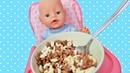Куклы Пупсики Беби Элайв и Беби Бон кушают / Pretend play with Baby Alive Doll / Открываем сюрпризы