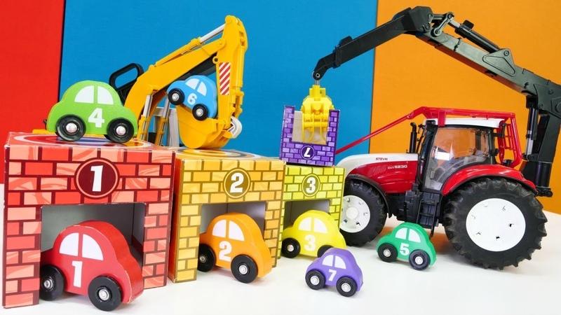 Renk oyunu. Arabalar ile sayı ve renk öğretme.