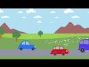 ДАЛЕКО и БЛИЗКО - развивающая обучающая песенка мультик для детей про трактор поезд и машины_mp4 1280x720