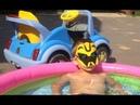 БАССЕЙН с ORBEEZ Купаемся и играем в Басейне с Бамблби выращиваем орбиз ,Катаемся на детской машинке