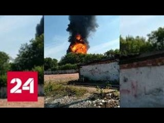 Серия взрывов произошла на горящем в Перми заводе Нефтехимик - Россия 24