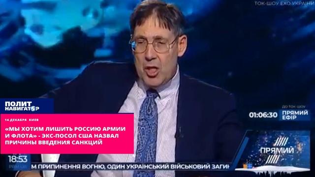 «Мы хотим лишить Россию армии и флота» – экс-посол назвал причины введения санкций