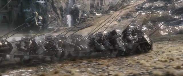 Dain Ironfoots fullmetal lads. The dwarves of the Iron Hills at the battle of the five armies (The Hobbit BoFA, Sonne)