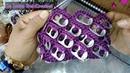 Monedero Tejido a Crochet Con Anillas De Lata/LA LUNA DEL CROCHET