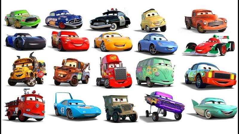 Тачки 100 Персонажей Мультики Машинки Дисней в Реальной Жизни Видео для Детей