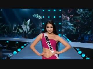 Сабина Азимбаева, представляющая Казахстан на конкурсе
