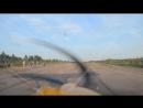 взлет самолета Aeroprakt A-22 вид из кабины пилота, Боровичи, аэродром Волгино, 17.08.2018