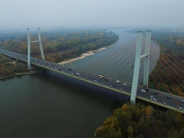 Most Siekierkowski w Warszawie z lotu ptaka