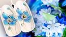🌸 Яркие Голубые Цветы для Весеннего Маникюра / Рисунок Гель-лаком INDI TREND RUNAIL / Пошаговый МК