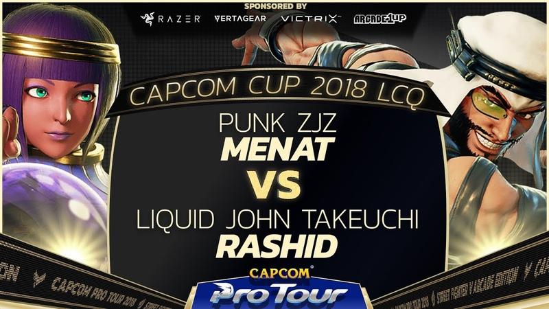 ZJZ (Menat) vs John Takeuchi (Rashid) - Capcom Cup 2018 LCQ Loser Finals - CPT2018