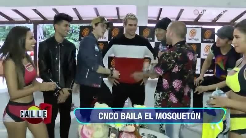 Calle 7 en exclusiva con los integrantes de CNCO, hasta bailaron el mosquetón