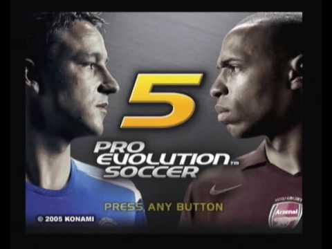Pro Evolution Soccer 5 Intro Konami Sony Playstation 2 PAL Version