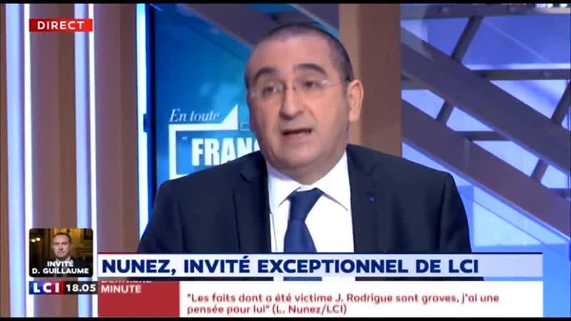 Nunez Laurent sur la blessure à lœil de Jérôme Rodrigues