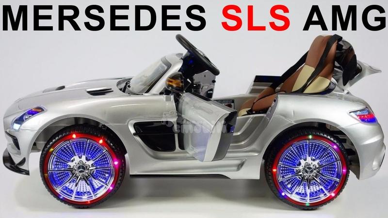 Видео обзор Детский Электромобиль Mersedes SLS AMG лицензия
