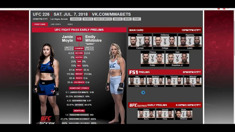 Прогноз и аналитика боев от MMABets UFC 226: Ванната-Клозе, Мойл-Уайтмейр. Выпуск №100. Часть 1/5