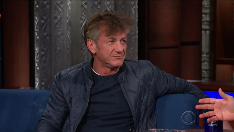 Sean Penn about AMK at the Late Show with Stephen Colbert