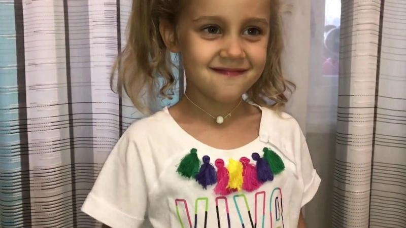 Меряем футболки с распродажи Фаберлик на девочку 4 года