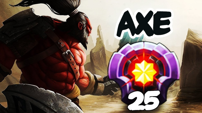 FIRST LEVEL 25 AXE DIVINE RANK - Dota 2 EPIC Gameplay Compilation