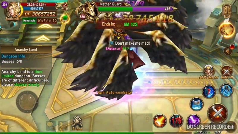 Anarchy Land - mage 299lvl, 5 bosses (х2-4 faster)