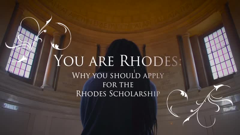 The Rhodes Scholar Journey