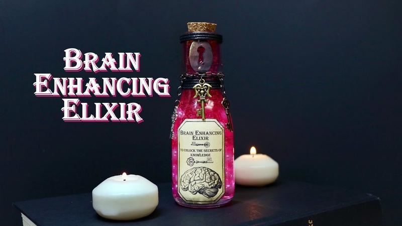 Brain Enhancing Elixir DIY Potion Bottle Potion Prop Steampunk Inspired