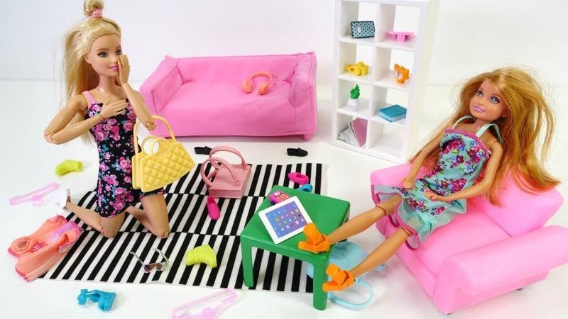 Barbie oyunları. Barbienin kardeşi gelip ortalığı dağıtıyor