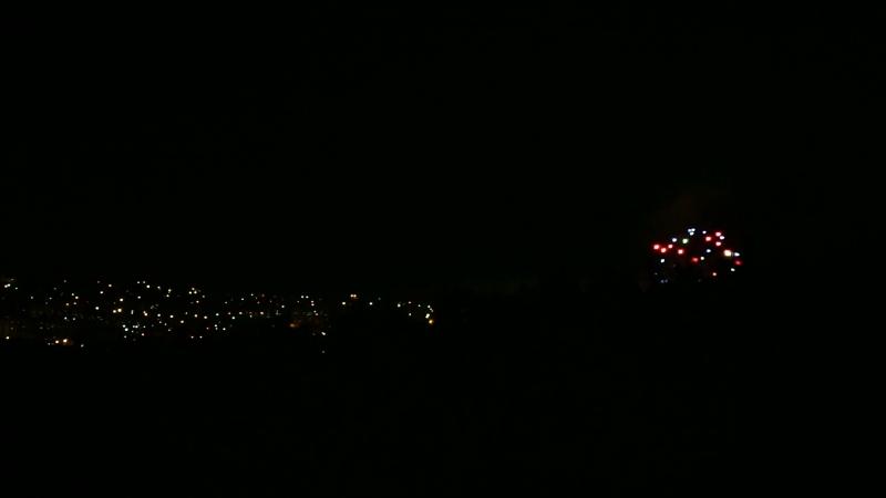 Фейерверк на день города Миассс. Вид с Заозерной .