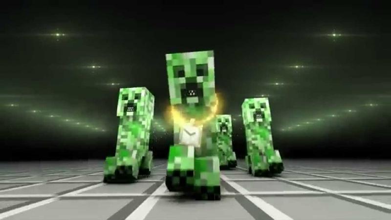 Самые смешные приколы в Minecraft Криппер читает РЭП