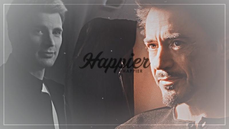 Steve/Tony • you look happier [AU] [IW]