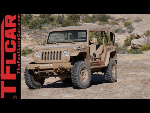 We drive the crazy cool retro Jeep Wrangler JK2A Staff Car Concept
