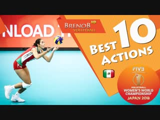 Top 10 best jump serves actions by samantha bricio. fivb womens wch 2018.