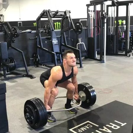 """Michael Chandler on Instagram: """"workoutoftheday - powerful legs with @peejay_cereal - Trap Bar Deadlift 4x6 @dynamax BoxJump 4x6 Barbell Thrust..."""