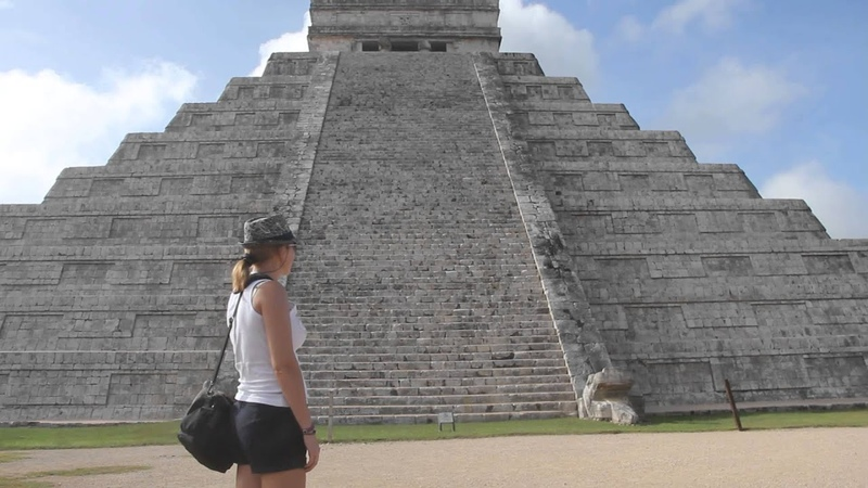 Пирамида Чичен Ица Мексика Звук птицы Квезаль