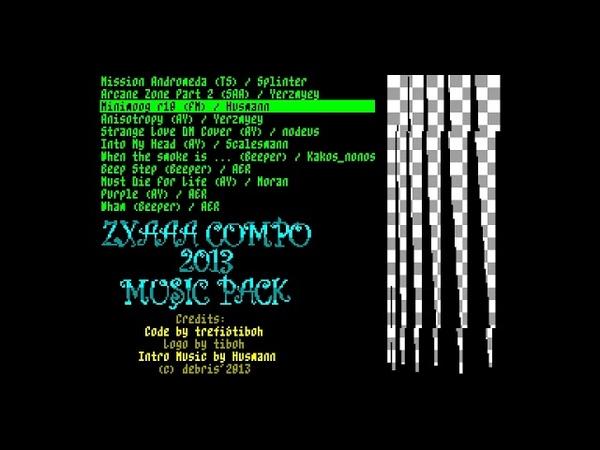ZXAAA Compo 2013 Music Pack (musicdisk) (TS) (FM) (SAA) - debris [zx spectrum Music Demo]