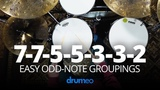 7-7-5-5-3-3-2 Easy Odd Note Groupings