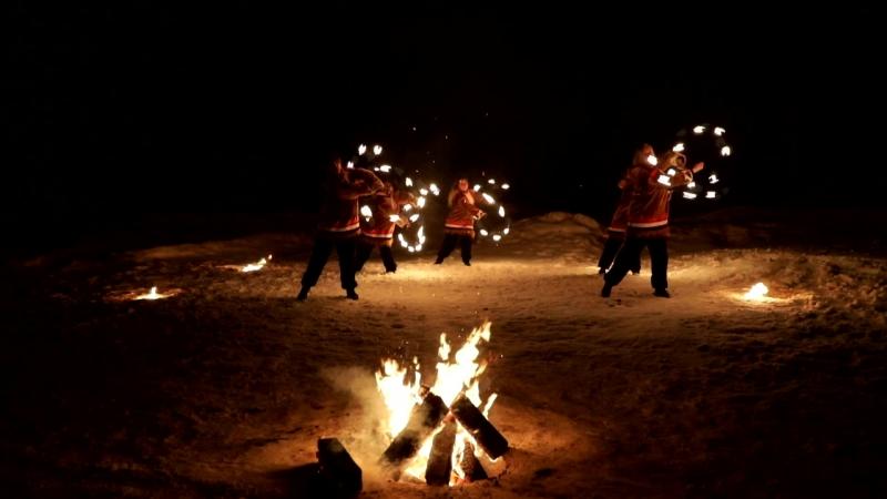 Театр огня и света Та-Моко г. Ноябрьск - Ямальские шаманы (Демо)
