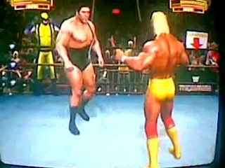 Legends of WrestleMania  Wolverine , Hulk Hogan vs Andre the GIANT , Yokozuna